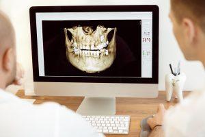Dentist using new dental trends.